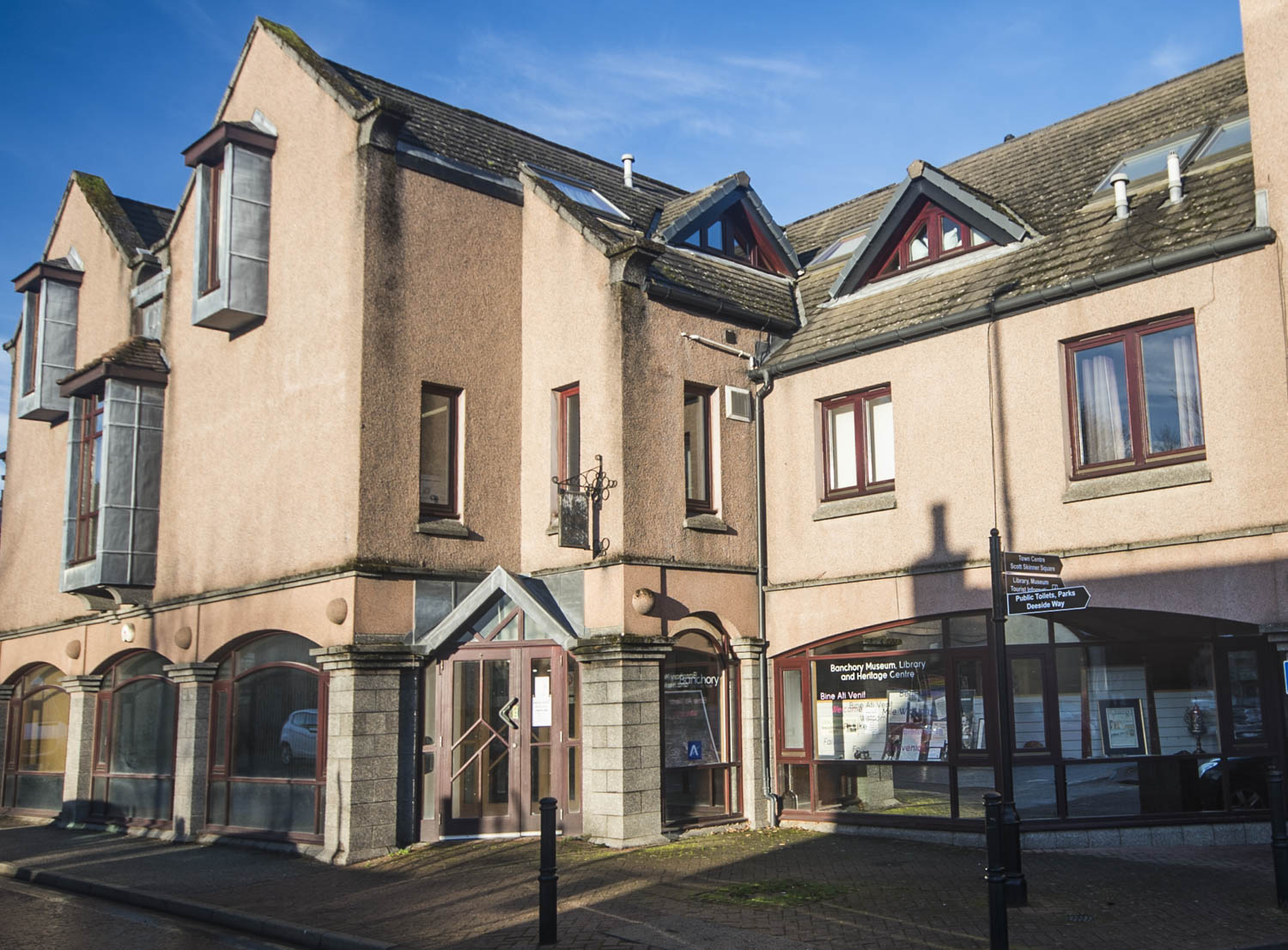 External image of the entrance to Banchory Museum.