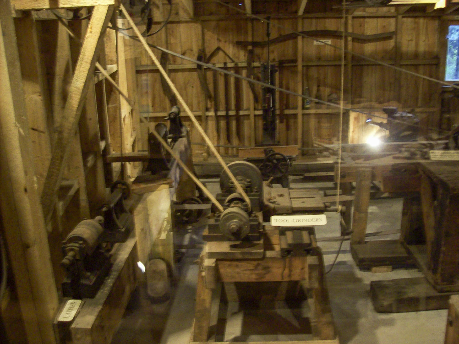 internal view of an old joinery workshop
