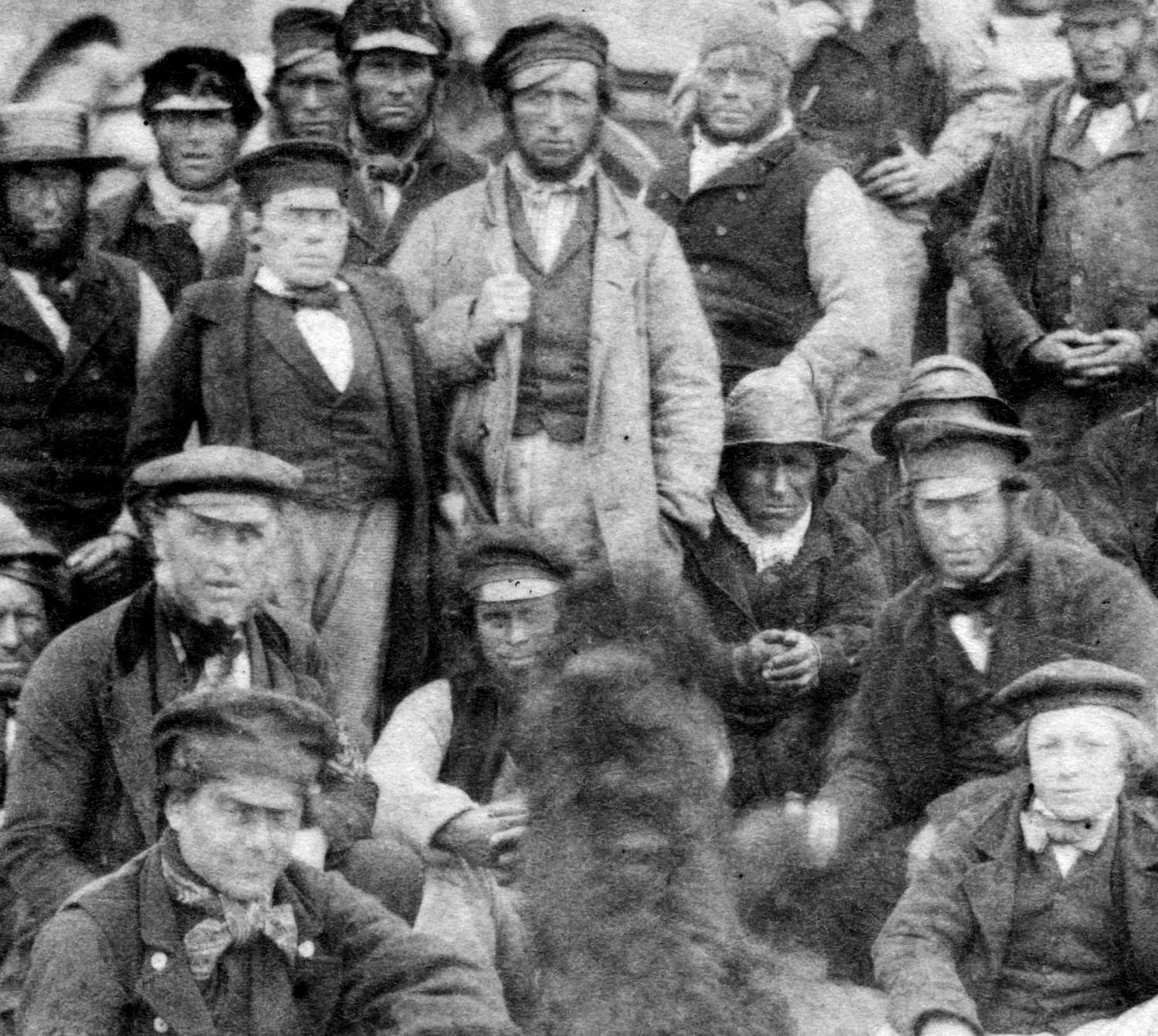 old image of a group of working men