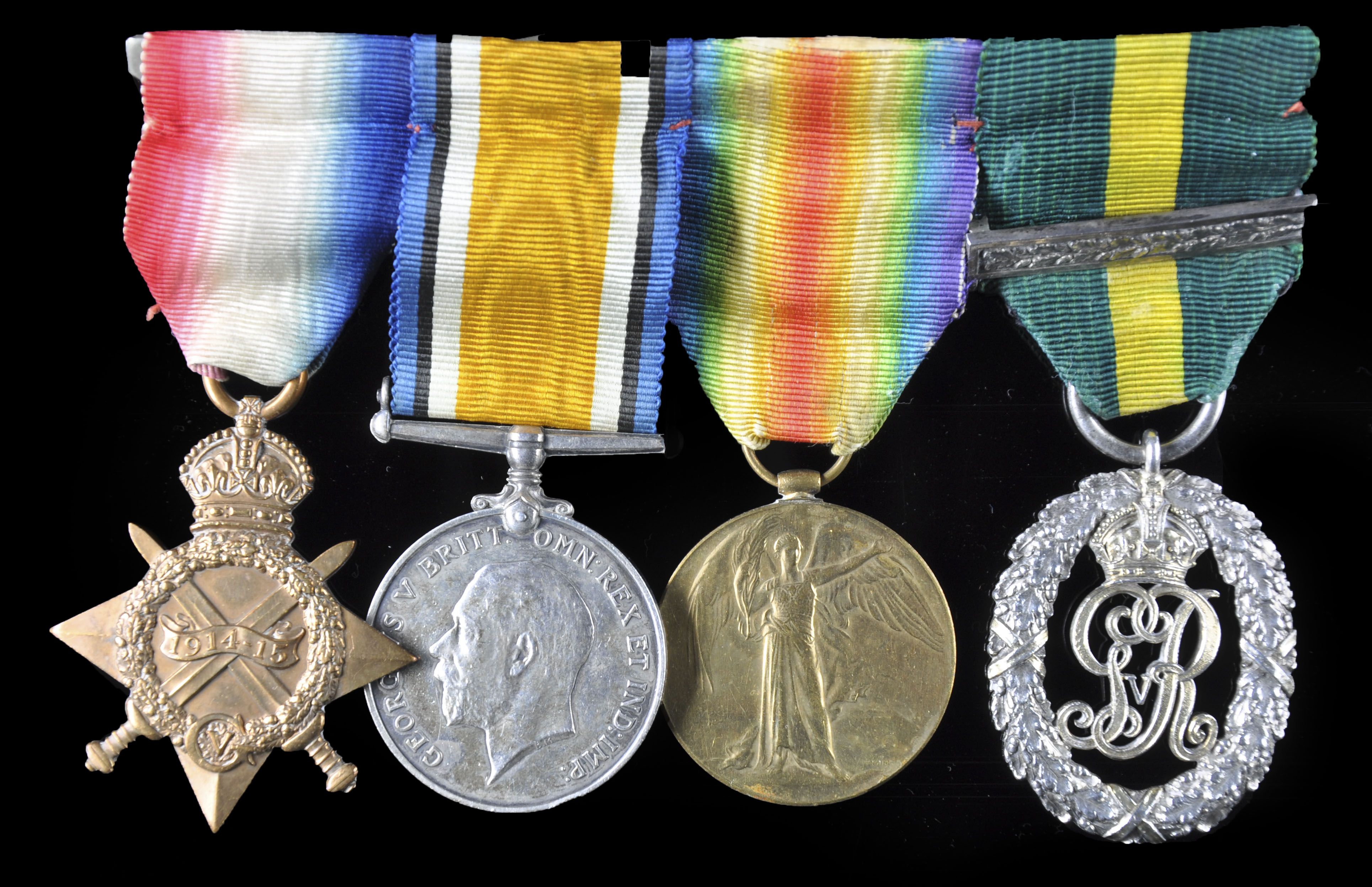 row of British medals