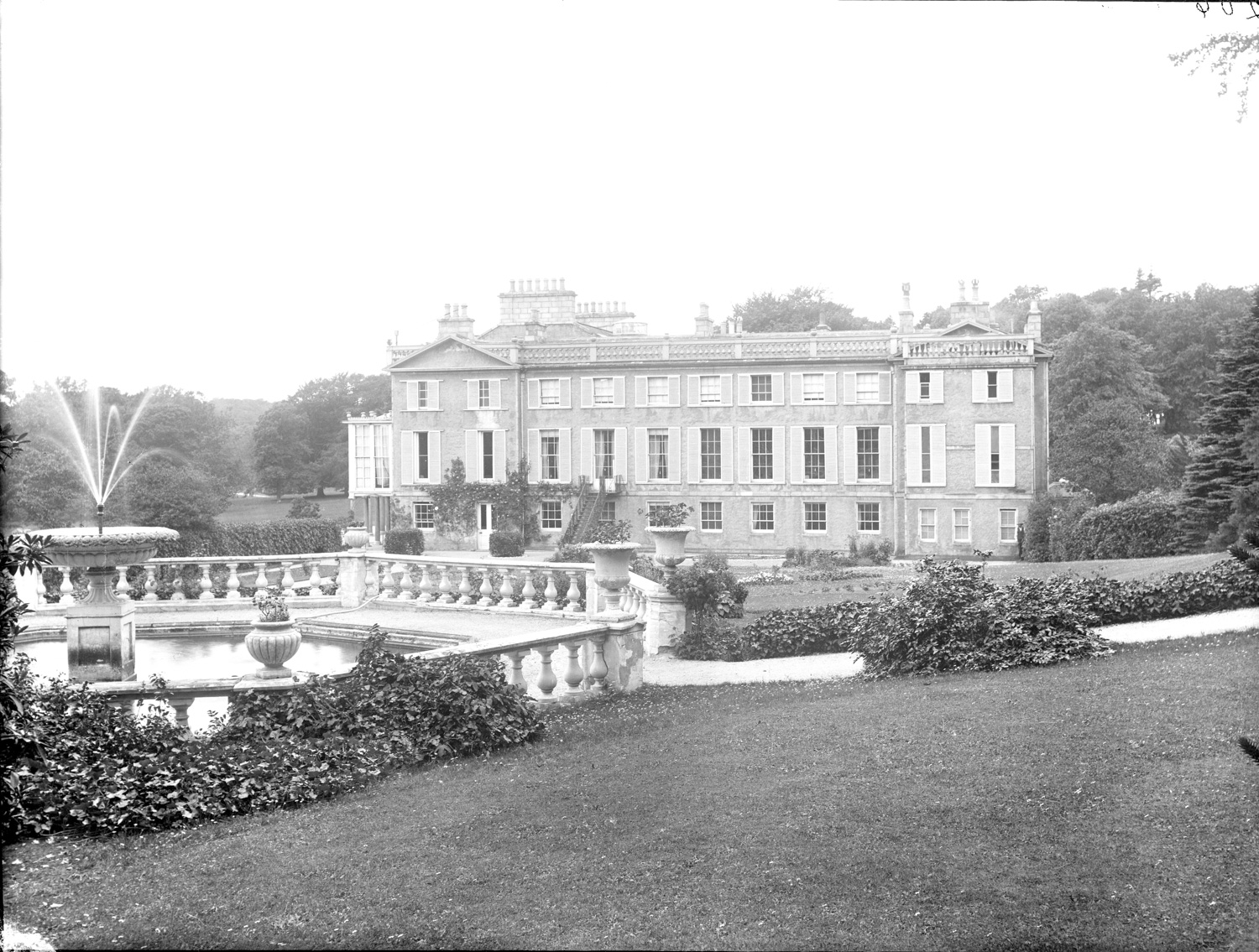 19th century image of Pitfour house.