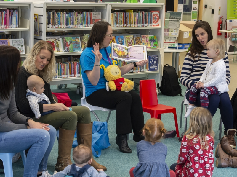 Mothers and toddlers at story session