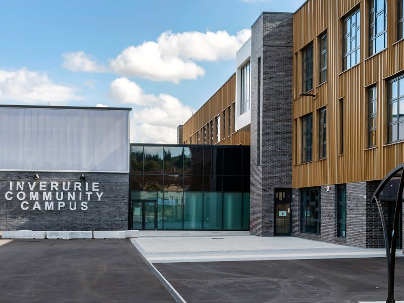 Exterior view of Inverurie Community Campus
