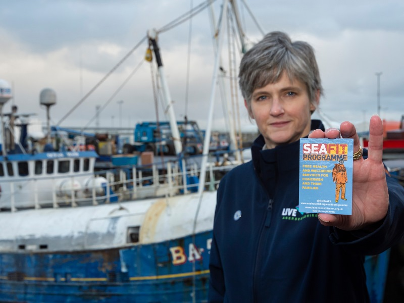 Healthy Lifestyle Advisor Catriona Arthur will work directly with local fishing communities to deliver the SeaFit programme
